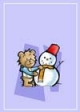 Snowman Teddy Bear Gift Card #13