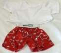 White Tee-Shirt & Red Hearts Boxer Set