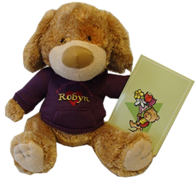 Birthday Teddy Bears with embroidered hearts or stars and your personal message