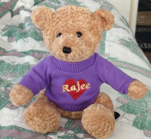 Rajee Name Bear